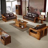 乌金木沙发 现代中式实木家具 客厅实木沙发全实木沙发