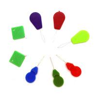 缝纫机穿线器自动引针线 穿针器老人穿针引线器 家用快速认针器引针器 方形10个