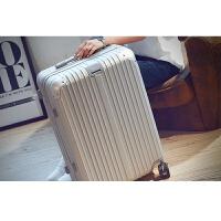 韩版旅行箱万向轮铝框拉杆箱pc学生行李皮箱潮男女软箱22 24 世帆家SN2602 银色 拉链磨砂款