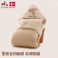 欧孕婴儿抱被新生儿春秋彩棉包被襁褓被子包巾宝宝用品抱毯