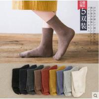 袜子女中筒袜潮韩版学院风日系网红时尚潮流纯棉女袜纯色长袜户外新品女士棉袜