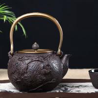 铁茶壶日本南部生铁壶茶具烧水煮茶老铁壶铸铁茶壶煮水泡茶纯手工功夫茶具铸铁壶无涂层