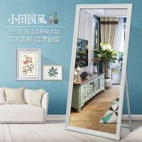 镜界试衣镜实木穿衣镜全身镜子时尚欧式落地镜服装店镜子壁挂镜子 其他