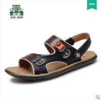 战地吉普男鞋 新款凉鞋 真皮男士凉鞋子透气沙滩鞋凉鞋潮鞋681