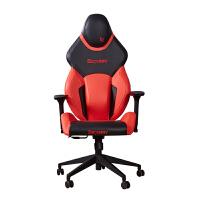 简约电脑台式桌家用单人网吧电竞桌子竞技游戏办公网咖铁艺沙发椅 桔红色 电竞椅