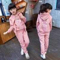 童装2018新款女童春秋装套装儿童服装女孩大童女装运动卫衣三件套