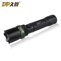 久量LED-521强光调焦远射充电式手电筒 金属外壳超亮手电筒