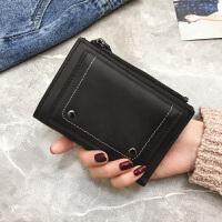 新款女钱包2018春季韩版新款两折竖款时尚纯色零钱包多功能学生小钱夹
