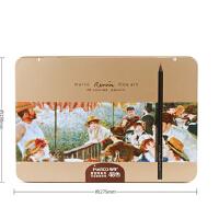 马可雷诺阿3200�\木彩色铅笔 进口芯 48色油性彩铅 铁盒套装