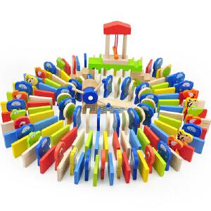 [当当自营] TOPBRIGHT特宝儿 150粒动物桶装多米诺骨牌玩具6995