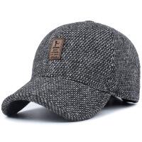 2018新款男士帽子冬季男冬天秋季保暖毛呢棒球帽中年中老年爸爸休闲鸭舌帽 帽围可调节54-60cm