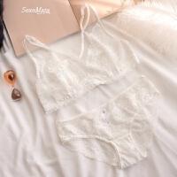C-021街拍INS款性感胸罩薄款大胸透明内衣文胸套装夏