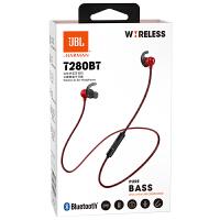 JBL T280BT 蓝牙耳机无线入耳式游戏音乐运动颈挂式耳机安卓华为苹果手机通用耳塞磁吸带麦 国行原封 全国联保