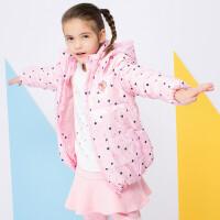 加菲猫女童羽绒服中大童外套GJD17434