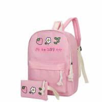 双肩包女可爱印花中小学生书包韩版软妹学院风休闲旅行背包子母包