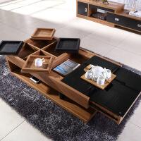 功夫茶几客厅小茶桌北欧茶几简易创意功夫茶桌简约钢化玻璃小户型 欧式客厅1.2米方形 1.2米*0.6米*0.38米 组