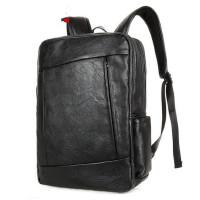 韩版休闲双肩包男士包背包学生书包皮时尚潮流运动旅行电脑包