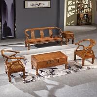 家具全实木客厅中式沙发组合木新中式小户型五件套沙发 组合