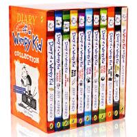 [现货]小屁孩日记11本全套盒装 英文原版 漫画 绘本 Diary of a Wimpy Kid 7-12岁美国初中小