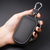 汽车钥匙包通用真牛皮男女拉链遥控智能车钥匙保护套时尚锁匙扣包