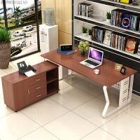 单人老板办公桌简约现代带柜子办公家具大班台时尚经理桌办公桌