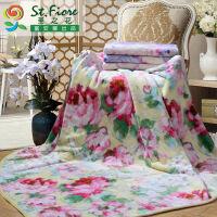 富安娜家纺 圣之花秋冬家居毛毯休闲毛毯盖毯沙发毯 夏日梦舞
