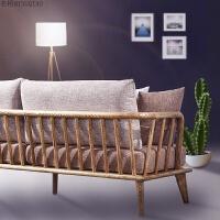 北欧家具水曲柳实木沙发组合客厅整装1+2+3小户型三人布艺可拆洗 其他