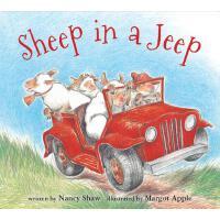 【现货】英文原版 开吉普车的羊 纸板书 Sheep in a Jeep 0-3岁低幼绘本 9780547338057