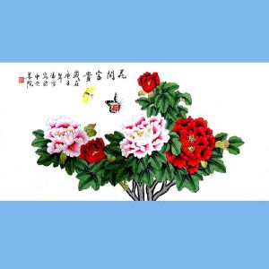 北京著名工笔画家,北京市美协会员,北京九久书画收藏文化交流中心画家凌雪(花开富贵)