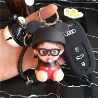 款奥迪钥匙包韩国可爱A6LA4LA5A3Q3汽车钥匙保护套扣壳女士式
