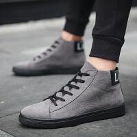 DAZED CONFUSED  百搭男鞋子冬季潮流高帮鞋冬季高邦休闲鞋男士平板鞋运动帆布鞋