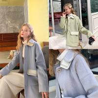 MG小象毛呢外套女2019新款韩版宽松加厚小个子冬季流行呢子大衣