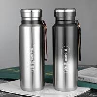 光一304不锈钢保温杯便携大容量1000ml保温壶男士高档水杯子创意个性