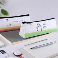 韩国笔袋男学生用品个性创意极简约大容量中小学生文具盒铅笔袋女