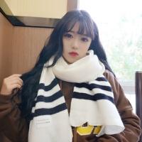 毛线围巾女冬季韩版学生百搭针织原宿小清新简约围脖软妹子男