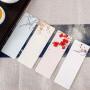 创意精致中国风纸质书签礼物 梅兰竹菊古风空白花纹书签礼品送老师礼物手绘卡片