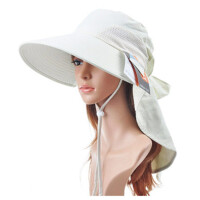 女士遮阳帽大沿太阳帽 防晒帽凉帽骑车户外防风可折叠防紫外线