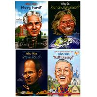 【中商原版】Who Was 经济人物系列4册套装 英文原版 儿童读物 初级章节书 青少年 儿童文学