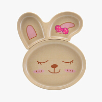 当当优品壳氏唯创意三格儿童餐具抗菌防霉环保 兔子款大号 RB-2
