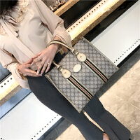 2018新款女包手提包欧美复古印花单肩包大容量女士包包托特大包SN0162 香槟金