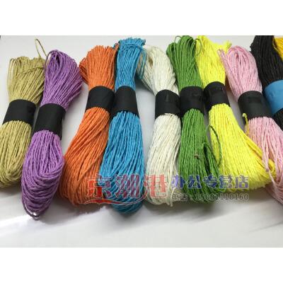 彩色纸绳 diy纸花纸藤 皱纸手工花材料 幼儿园手工纸 12色套装 6捆