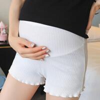 孕妇打底裤夏季防走光安全裤细条纹百搭夏天托腹短裤纯棉孕妇裤