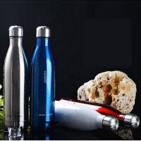 500ML创意水杯 可乐瓶双层真空保温瓶 不锈钢杯子保温杯 茶杯运动便携水杯子