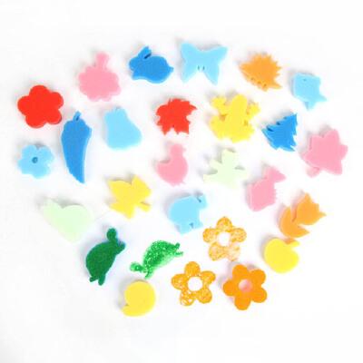 大贸商 diy海绵印章 儿童涂鸦美术美工绘画工具 24个 ef00464