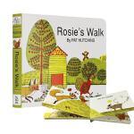 母鸡萝丝去散步 纸板书 英文原版 Rosie's Walk廖彩杏书单 纽约时报年度优选童书