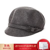 帽子女秋冬时尚韩版潮贝雷帽渔夫帽毛毡帽鸭舌帽英伦八角帽