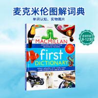 MacMillan First Dictionary麦克米伦儿童识字词典英文原版点读版 入门级图文并茂儿童词典 学习用书 精装大开本