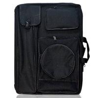 黑色画包 素描画板袋 双肩背 4k多功能 美术画袋 大拉链 防水 加厚画板包