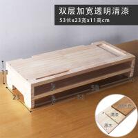 实木电脑显示器增高架台底座办公桌面键盘收纳架 木质液晶屏托架