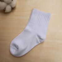 春秋童袜白色中筒袜学生纯棉袜男童女童运动演出白袜子短袜船袜